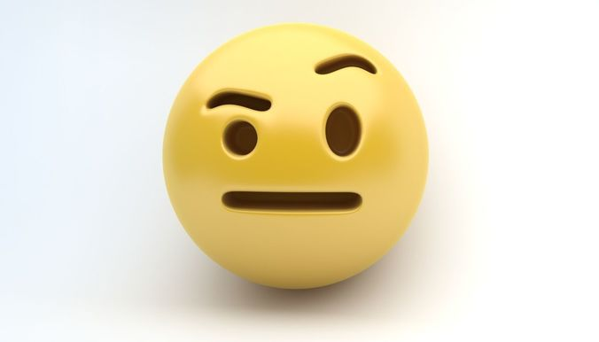 emoji eyebow 3d model max obj mtl 3ds fbx 1