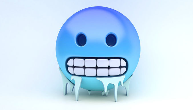 emoji freezing 3d model max obj mtl 3ds fbx 1