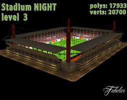 Stadium Level 3 Night 3D Model