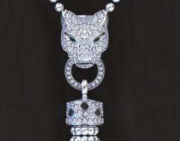 panther pendant jewelry 3D print model