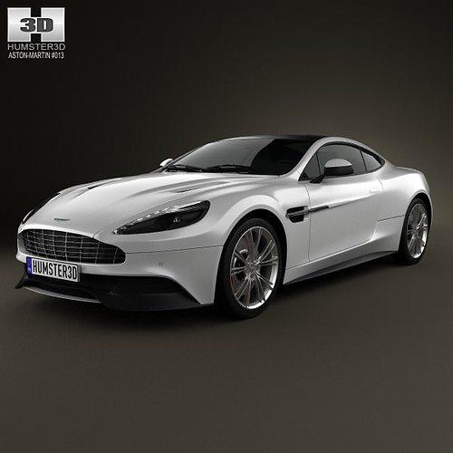 2012 Aston Martin Vantage Interior: 3D Aston Martin Vanquish 2012