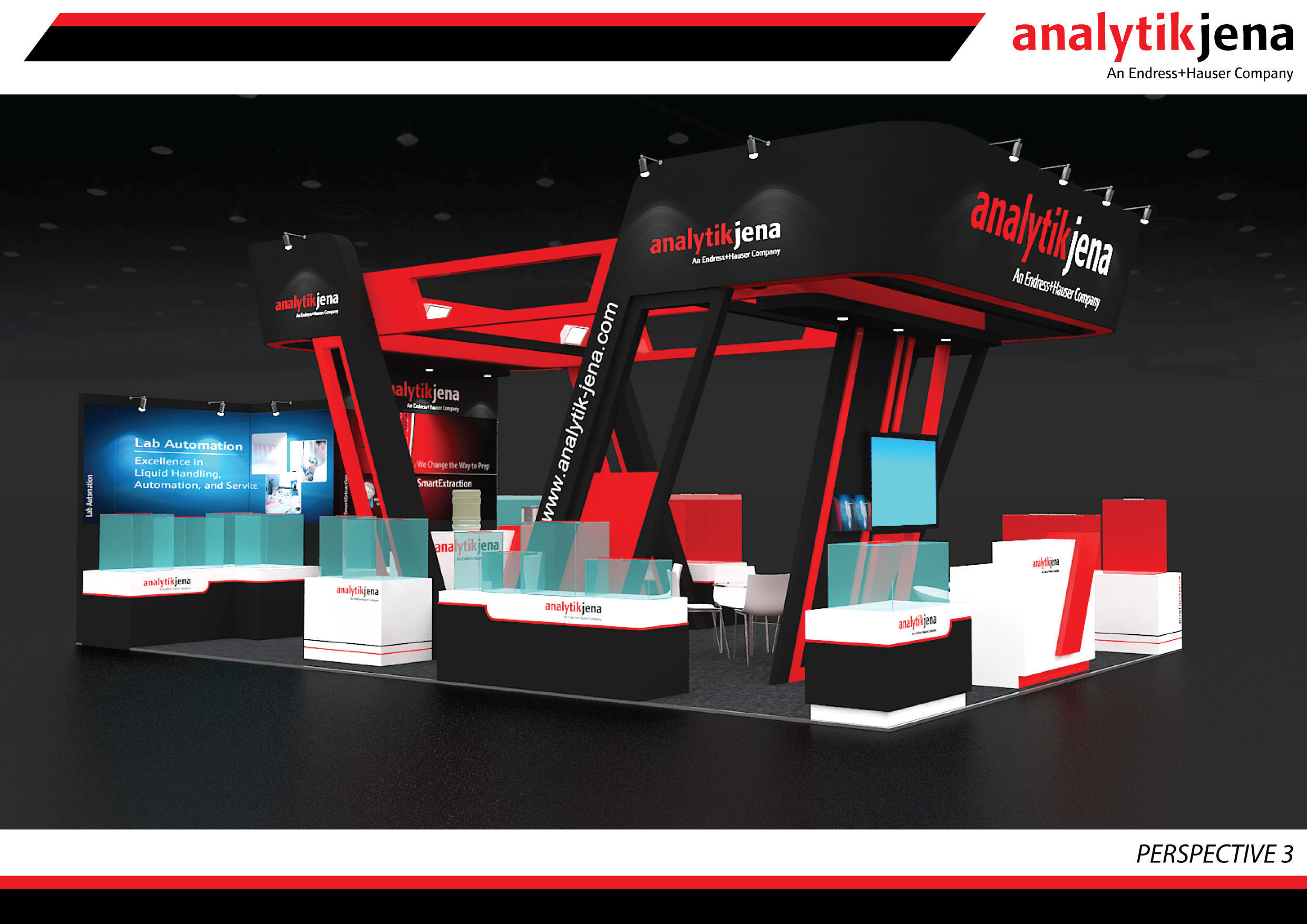 Booth Analytik Jena design size 9 X 6m 54sqm