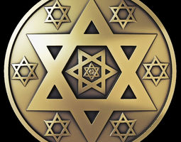 3D print model Star of David Coin