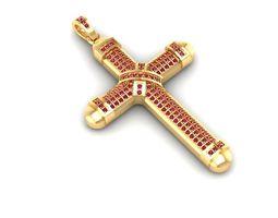 3d printable model 747 diamond cross pendant