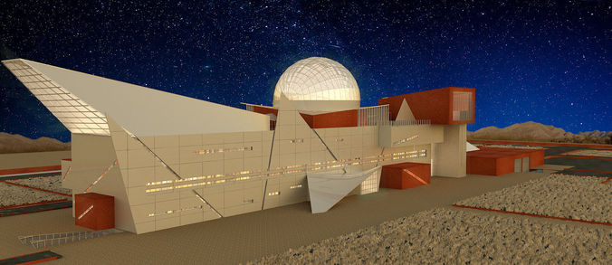 observatory and science center 3d model max 1