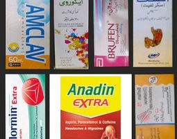 Medicines Drugs Pack Around 200 Ready Medicines 3D asset