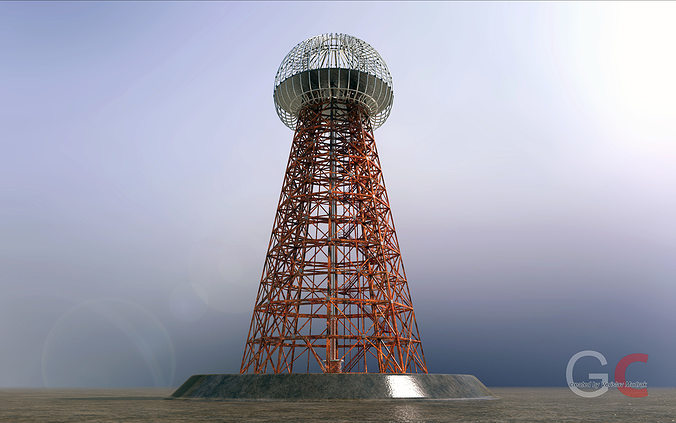 3d Model Tesla Tower Cgtrader