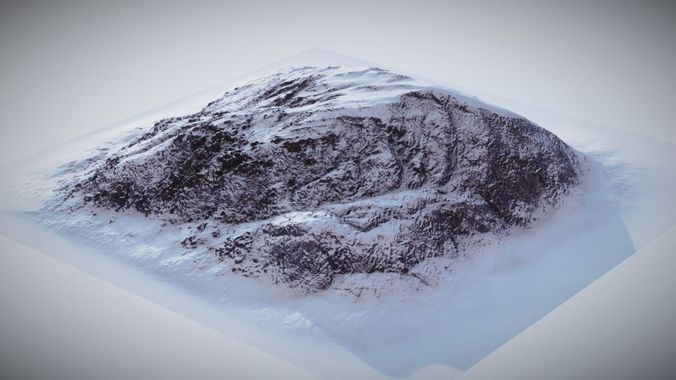 brushify - mountains generic 02 3d model obj mtl 1