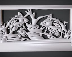 3D printable model Ornament Fish Furniture