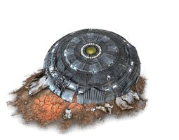 Crashed UFO Aircraft 3D asset