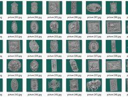 lot of 50 files art decor ornament relief 4