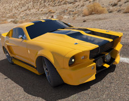 Mustang muscle car 3D Model