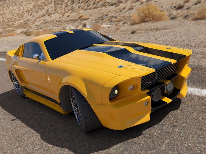 Mustang muscle car3D model