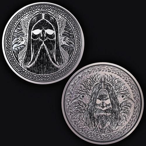 scandinavian coin 3d model max fbx stl 1