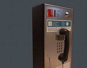 Game Ready Pay Phone 3D model