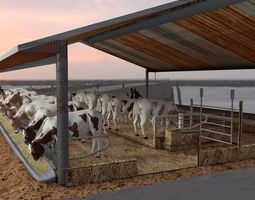 Cow Farm House 3D