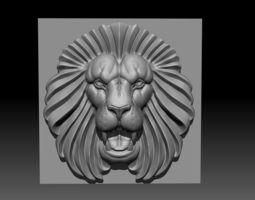 Lion bas-relief 3D print model