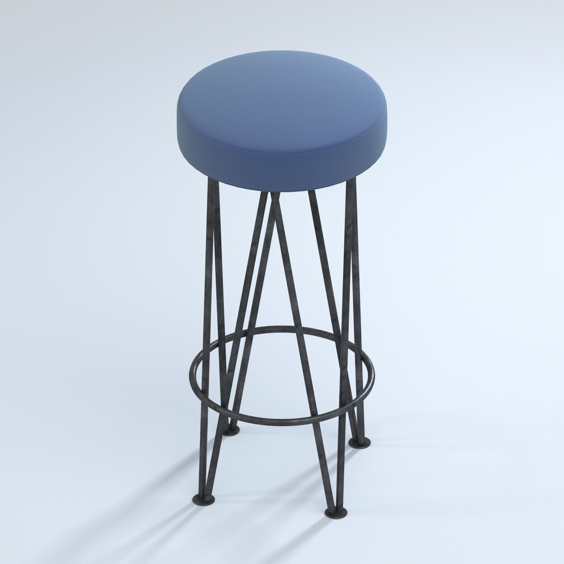 Brilliant Mr Brown Lorca Modern Black Hairpin Counter Stool 3D Model Pdpeps Interior Chair Design Pdpepsorg
