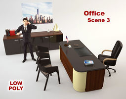 Office Scene 3 3D asset
