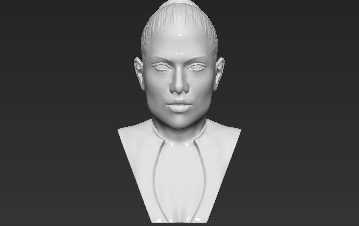 Jennifer Lopez bust 3D printing ready stl obj formats