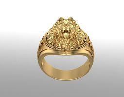 3D print model Lion Gold ring