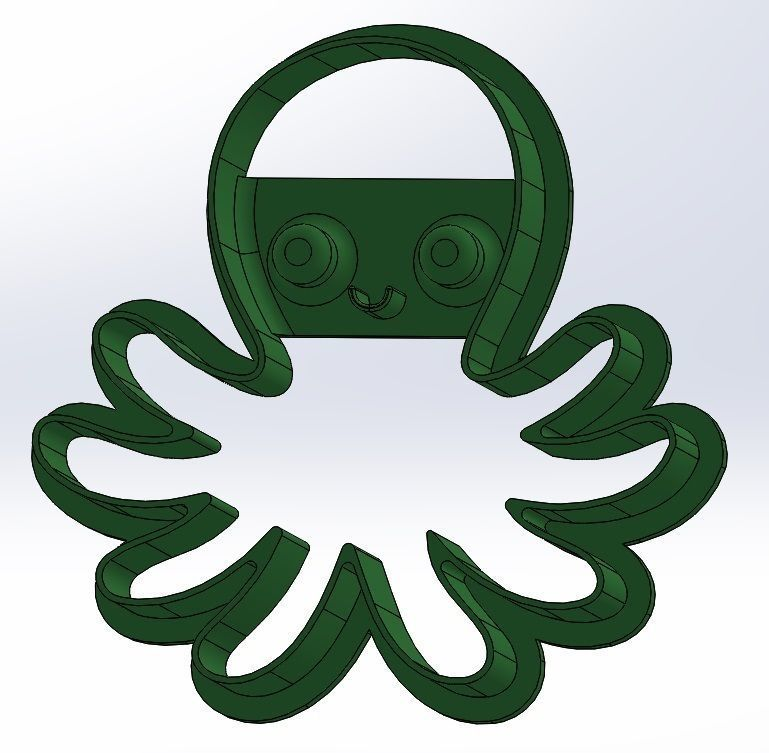 Friendly octopus cookie cutter