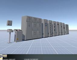 Control Panels Set 3D model