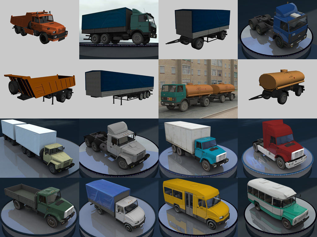 Russian low-poly cars for games