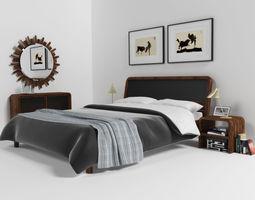 malaga bedroom set 3d