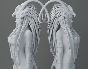 3D printable model HD Horns headdress girl 001