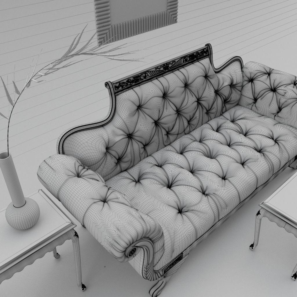 ... Old Hickory Tannery Promenade Duncan Sofa 3d Model Max Obj Mtl 3ds Fbx 4