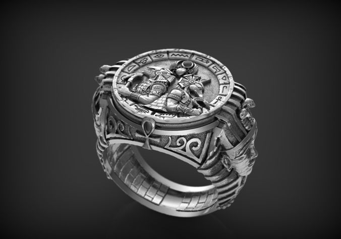 ring gods of egypte 3d model obj mtl stl 3dm 1