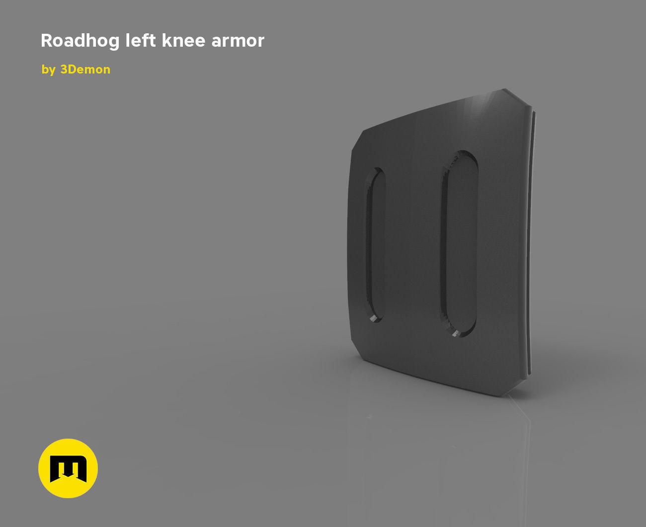 Roadhog left knee armor