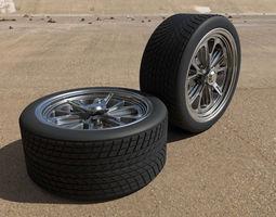 Cobra III car wheels 3D Model