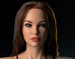 3D asset Betty - Fully Rigged and Textured Female HD