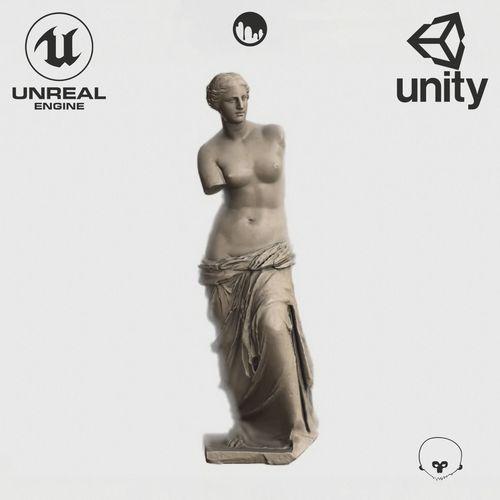 VR Sculpture The Aphrodite of Milos Venus de Milo Ultra-Low-Poly