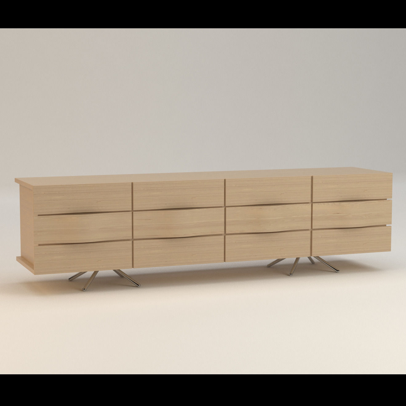 Boconcept ottawa sideboard 3d model max obj fbx for Sideboard 3d
