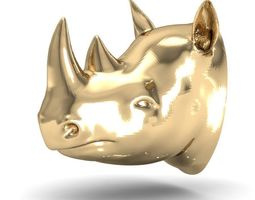 rhinoceros head 3D print model