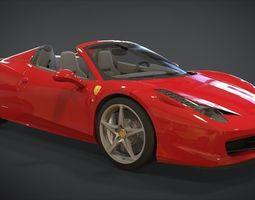 Ferrari 458 Spider 2013 3D