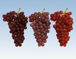 Grapes Red 3D Model