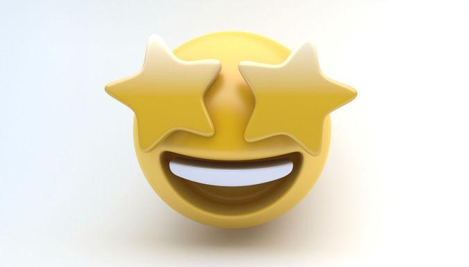 emoji stars 3d model max obj mtl 3ds fbx 1