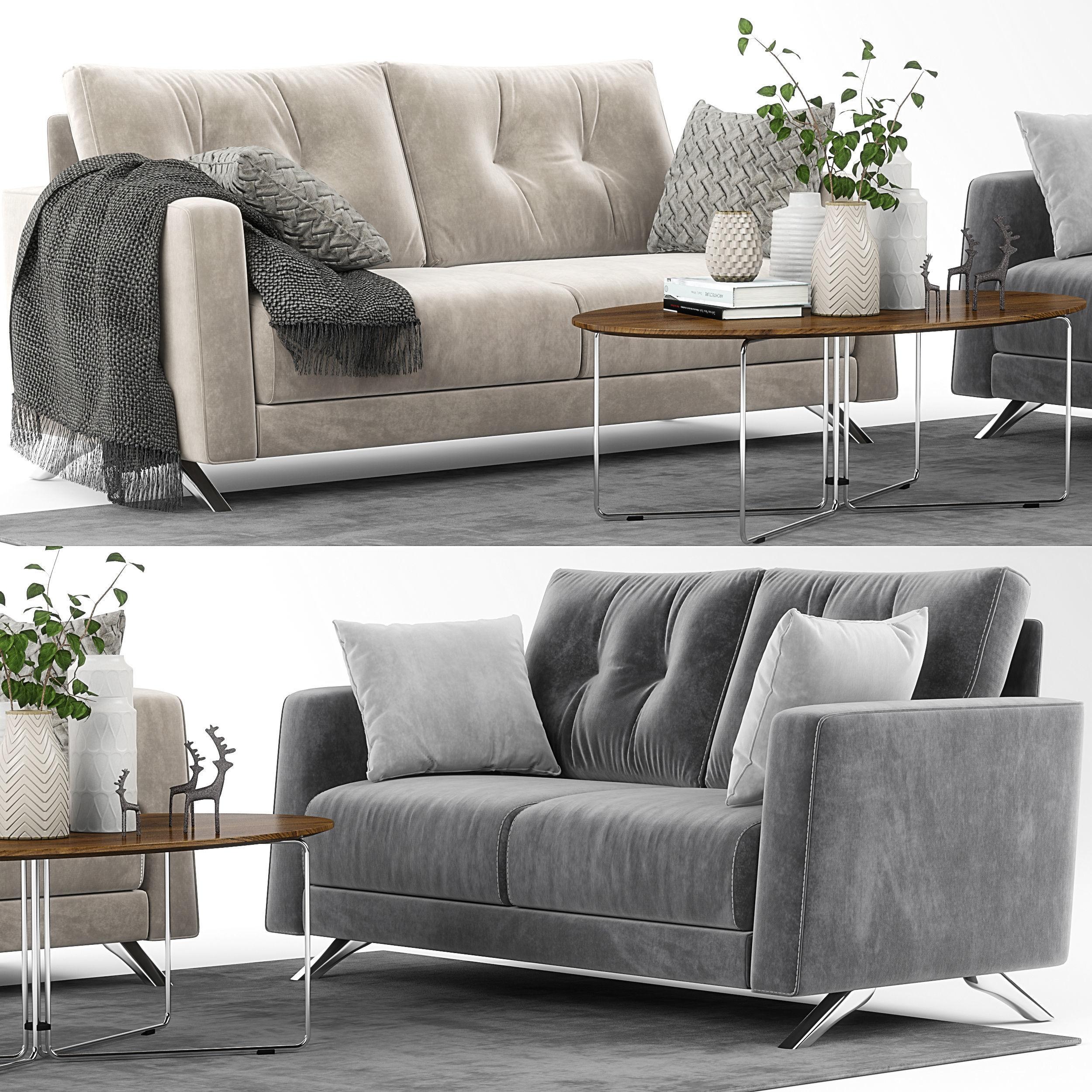 Bari Sofa Set Model By Fama Max Obj Mtl 1