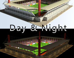 3D model Stadium Level 3 Day-Night