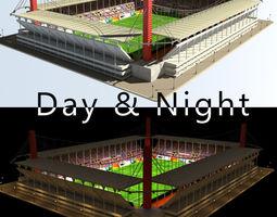 Stadium Level 3 Day-Night 3D Model