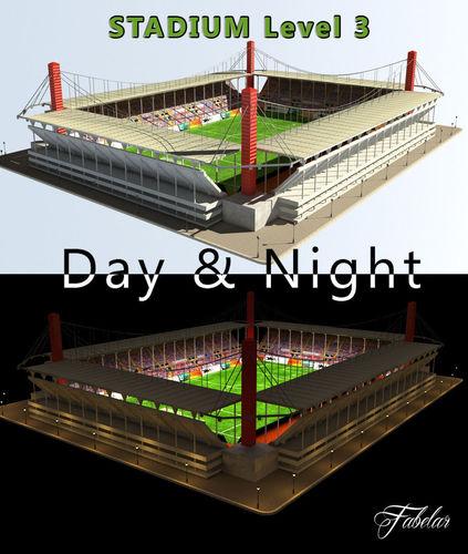 Stadium Level 3 Day-Night3D model
