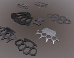 3D model Brass knuckles set