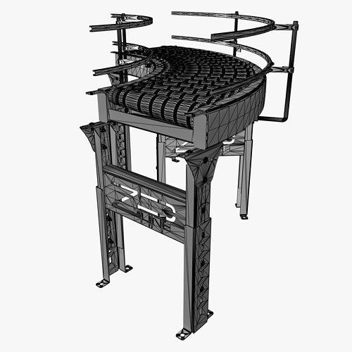 conveyor - zipline rzcdc 3d model max 1