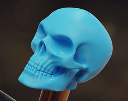 Skull cap for schrader valves 3D print model