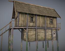 Medieval lake village - House 13 3D model