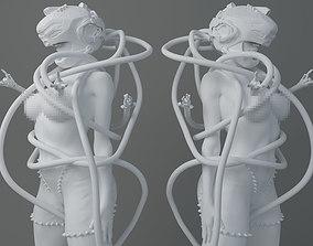 3D printable model HD Mechanical tentacle helmet girl